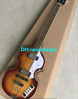Haut pour violon contemporain Deluxe Bass Sunburst Vintage Top Maple Maple Flame