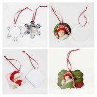 МДФ рождественские украшения украшения украшения круглой площади сердце передачи печати бланк расходный рождественские подарки новые стили