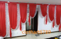 6m wide swags of backdrop wedding stylist designs backcloth ...