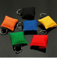 المحمولة CPR قناع سلسلة المفاتيح السلامة في حالات الطوارئ درع الإسعافات الأولية