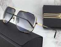 2e2a63949cb2 2018 gafas de sol gafas de sol Hombres oro   marrón gradiente vintage  estilo retro marco
