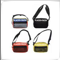 18ss yeni hip hop rapçi Yerler + Yüzleri P + F 17SS 3 M Kılıfı Çanta colorblock cepler yansıtıcı slung omuz çantası