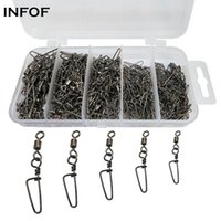 230Pcs box Fishing Swivels Snap Hook Lure Connector Rolling ...
