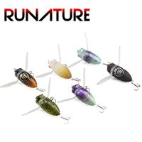 Runature Cicada Insect Fishing Lures 40mm 6g Hard Bait Fish ...