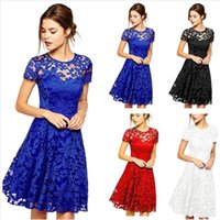 Women Lace Dresses Summer White Dress Plus Size Wedding Brid...