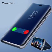 Cas clair de téléphone de miroir de vue pour Xiaomi Redmi 5 Plus Note 5 5A 4X pour Xiaomi 8 SE 6 6X Couverture Arrière