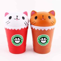 Cat Squishy Toys Coffee Cup Squishies Cute Animal Slow Risin...