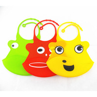Cartoon Baby Bibs Silicone Waterproof Aprons Infant Feeding ...