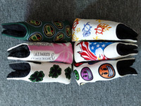 6Options Latest Embroidery Golf Putter Head Covers PU Leathe...