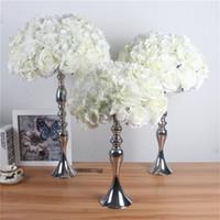 실크 꽃 공 인공 DIY 모든 종류의 꽃 머리 웨딩 장식 벽 호텔 샵 창 테이블 액세서리 세 크기