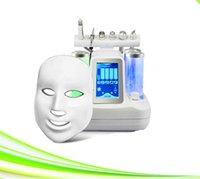 7 in 1 Sauerstofftherapiegeräte Hautpflege führte Lichttherapie Gesichtsmaske Vakuum Mitesser Entferner