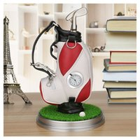 wholesale Mini Golf Bag Pen Holder With Lawn Base Clock And ...