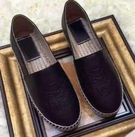 2021 Sıcak Satmak Yeni Stil Bayan Düşük Üst Tiger Espadrilles Balıkçı Ayakkabı Rahat Sneakers Tuval Koyun Cilt Deri Düz Ayakkabı 35-42