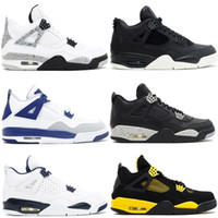 High Quality 4 Pure Money Basketball Shoes Mens 4s BRED Roya...