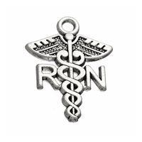 Горячий Сплав Медицинский Знак RN Зарегистрированный Медсестра Подвески Католические Ювелирные Изделия AAC191