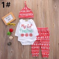 Newborn Baby Clothing Sets Christmas Snow Printed Children C...