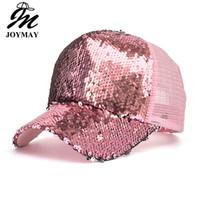 JOYMAY Kadınlar Yaz Güneş Şapka Moda Stil Kadın Favori Bling Glitter Örgü Beyzbol Şapkası Rahat Eğlence Şapka 6 Renkler Mix Sipariş B529