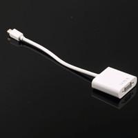 Freeshipping في الأسهم! 1PC ميني DisplayPort العرض ميناء موانئ دبي إلى VGA محول الكابل لشركة آبل لمحول ماك بوك البسيطة الكابل الأبيض