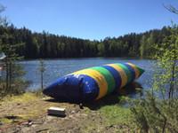 شحن مجاني 6x2 متر المياه المنجنيق blob / نفخ فقاعة القفز blob القفز المياه / وسادة المياه / نفخ القفز كيس الهواء
