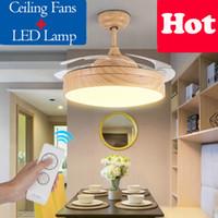 Потолок Сид невидимый вентилятор освещает светильники приурочивая дистанционное управление мотор преобразования частоты освещение Привесной лампы света канделябра