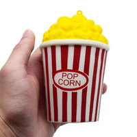12CM Squeeze Yellow Popcorn Corn Cup Squishy Kawaii Cream Sc...