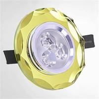 Laciness incasso Spot Light di cristallo della luce di soffitto 8 colori AC85-265V 3W chip per Cabinet coperta decorazione domestica