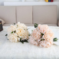 5 pcs set Peony Artificial Flowers Bride Holding Flowers Sil...