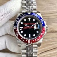 Uomo di alta qualità Orologi da uomo Basel World 126710 126710Blo rosso e Bibile Bicolor Cerachrom Pottery B &el GMT Uomo Autommen Automatic Movement Watch