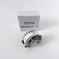 90 x ROLLS Brother DK 22210 DK-22210 DK22210 DK-2210 DK 2210 DK2210 Kompatibla termiska etiketter 29mm x 30,48m med svart plastram