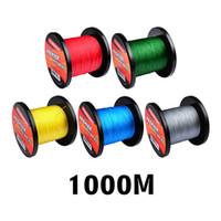 1000M Marca Proberos Súper Fuerte Japonés PE Trenzado líneas de pesca 5colors 10lb ~ 100lb 4 líneas Trenza Spectra Line Deje un mensaje para color