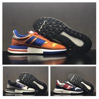 2018 Best quality ZX500 RM SON GOKU Suede Orange Blue Sports...