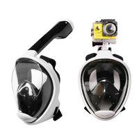 뜨거운 새로운 수중 안티 안개 다이빙 마스크 스노클 수영 훈련 스쿠버 Mergulho 2 1 Gopro 카메라에 대한 전체 스노클링 마스크