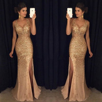 Prom Dress 2018 Mermaid Evening Dresses Wear Modest Dubai Ar...
