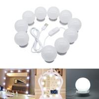 Edison2011 Maquillaje espejo LED luces LED 10 bombillas de vanidad de Hollywood para tocador con atenuador y enchufe en un espejo enlazable no incluido