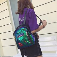 4colors Fashion Sequin Stars Small Girls Backpack Bling Desi...