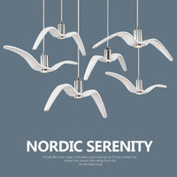 Nordic Resin Seagull Pendant Light Sky Freedom Bird Seagull ...
