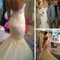 Charming Sweetheart Mermaid Wedding Dress Chapel Train Ivory...