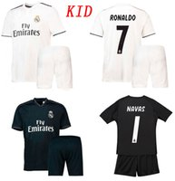 Kids 18 19 Real Madrid Soccer Jersey Shorts 2018 2019 Ronald...