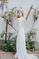 new sarahbridal bohemian country style sexy A- Line wedding d...