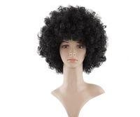 14 Zoll Afro Perücke verworrenes lockiges Haar schwarz weiß 7 Farben Bobo Hitzebeständige synthetische Perücken Halloween Nautral Cosplay