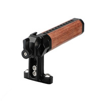 CAMVATE Top Cheese Handle Wooden Grip with Rod Clamp (Black ...