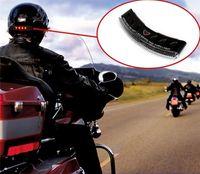 Casque de moto LED feu clignotant signal de freinage