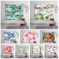 150*130CM 29 Styles Flamingo Tapestry Wall Hanging Beach Pic...