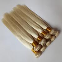 Avrupa bakire İnsan Saç Sarışın # Saç uzantıları atkı beyaz 8-26inch Silk STRIGHT Brezilyalı remy 613 Perulu remy Saç Paketler örgüleri