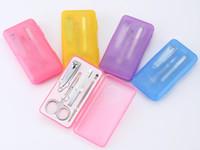 4 Unids / set Nails Clipper Kit Manicura Set Clippers Trimmers Pedicure Scissor Color Al Azar Herramientas de Uñas Conjuntos Kit de Manicura Herramienta 10 sets envío gratis