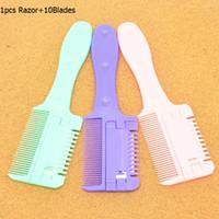 Meisha Nouveau design Barber cheveux rasoir avec 10pc Blades Salon Toilettage coupe de cheveux rasoir Brosse Extracteurs cheveux beauté pour hommes du corps HC0002