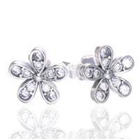 2018 New Authentic 925 Sterling Silver Dazzling Daisy Stud E...