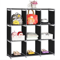 Multifunctional Assembled 3 Tiers 9 Compartments Storage She...