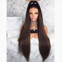 Hot Sexy 180% Density 26Inch Silky Straight Synthetic Lace F...