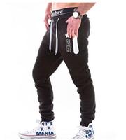 Erkek Rahat Pantolon Elastik Bel Hip Hop Gevşek Pantolon Erkek Uzun Pantolon Giyim Joggers Aktif